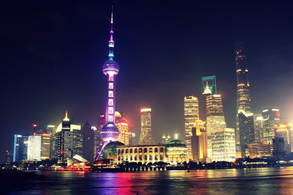 Shanghai by night, en Chine - © Manuel Joseph
