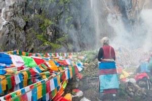 Les chutes d'eau près de Yubeng
