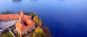 Le château de Trakai vu du ciel - © Mindaugas Danys