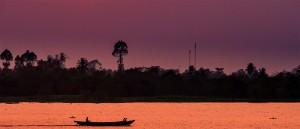 Coucher de soleil sur le Mékong - © Julia Maudlin
