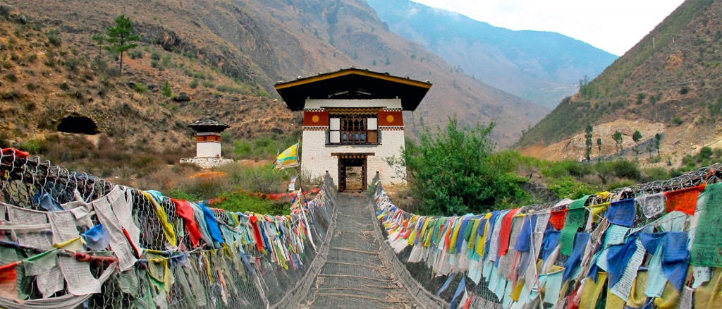 Un pont suspendu au Bhoutan - © Kyle Taylor