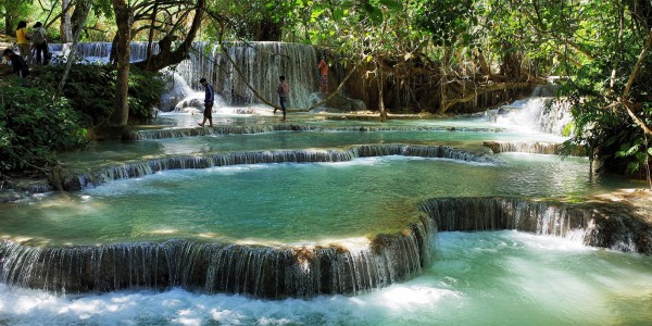 Les jolies chutes de Kuang Sy, Laos - © Basil Strahm