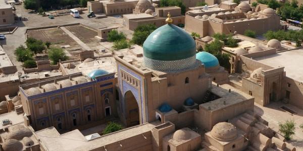 Vue sur la Médersa Islam Khodja de Khiva, Ouzbékistan - © Mr Hicks46