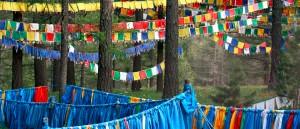 Des drapeaux de prière près du monastère de Tuvkhun, Mongolie - © François Philipp