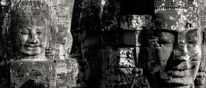 Les visages du temple d'Angkor Thom, Cambodge - © Chi King