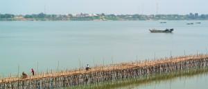 Le pont de bambou de Kampong Cham, Cambodge - © James Antrobus
