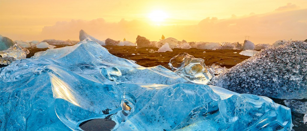 Lumière et glace à Jökulsárlón, Islande - © Moyan Brenn