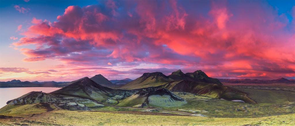 Coucher de soleil sur le Landmannalaugar - © Lovepro