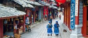 Dans la ville de Lijiang, au Yunnan