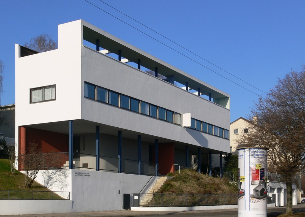 Les maisons de Weissenhof Siedlung, à Stuttgart, en Allemagne