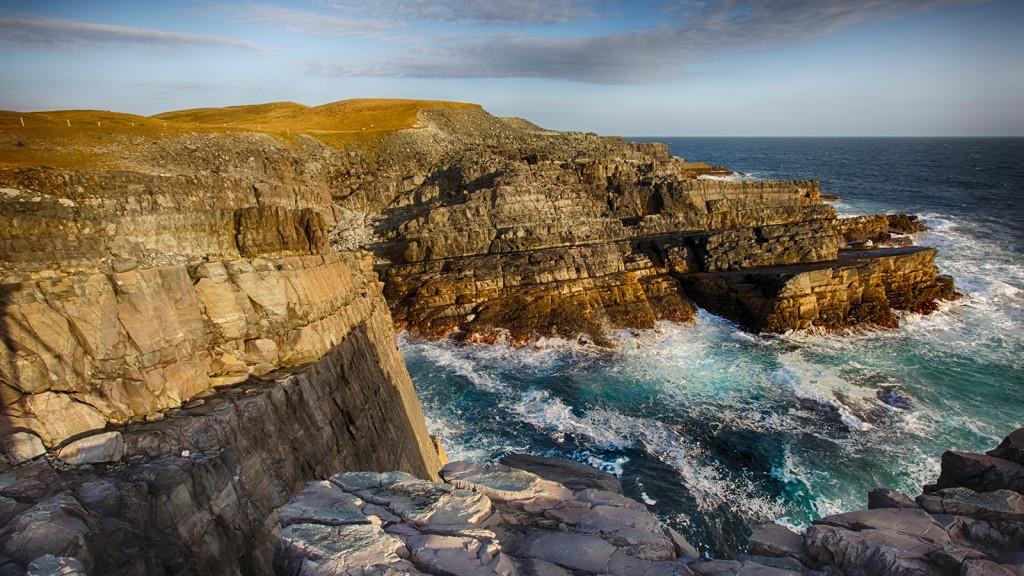 Les falaises de Mistaken Point, au Canada - © Mistaken Point Ambassadors Inc