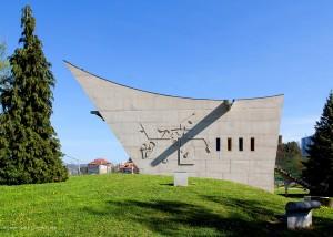 La maison de la Culture, à Firminy, en France