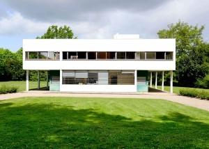 La Villa Savoye, à Poissy, en France