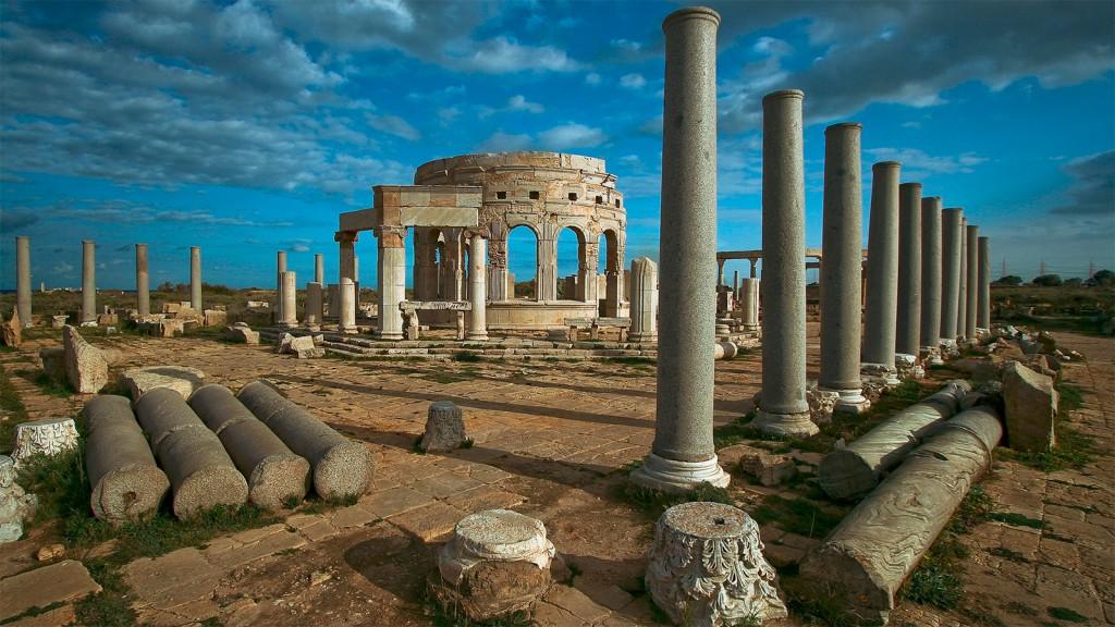 Le site archéologique de Leptis Magna, en Libye - © Mansour Alssager