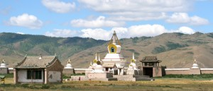 Le stupa principal du monastère d'Erdene Zuu, en Mongolie - © François Philipp