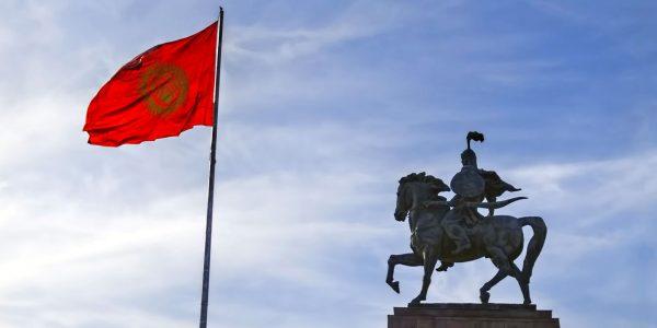 Le Monument de Manas sur la place Ala-Too, Bichkek, Kirghizistan - © Dan Lundberg